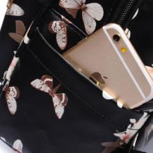 Bangtan7 Black Flowerful Backpack