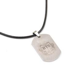 Bangtan7 Titanium Steel Dog Tag Necklace
