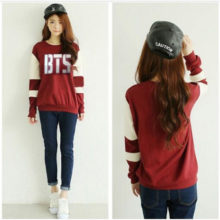 BTS Red Sweatshirt (8 Models)