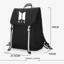 New Kpop BTS BT21 Bangtan Boys Group The Same Canvas Students Bag Fashion Teenage Backpack Travel Laptop Bag 4 Colors
