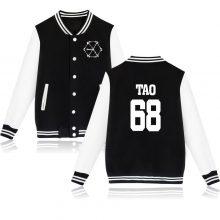 BTS EXO KPOP MONSTER Men/Women Baseball Jacket Men/ Women Winter Jackets k-pop Coats TAO CHEN CHANYEOL KAI SEHUN XIUMIN xxxxl