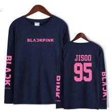 LUCKYFRIDAYF 2018 BLACKPINK Kpop Girl's Group camisa feminina Long Sleeve T Shirt Men/Women Cotton bts Kpop Streetwear  Tops