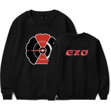 EXO Kpop Printed O-Neck Sweatshirts Women/Men Long Sleeve Fashion Streetwear Sweatshirts 2018 Hot Sale Casual Trendy Clothes