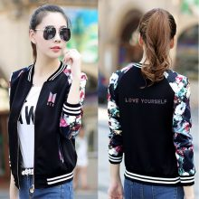 LUCKYFRIDAYF BTS Love Yourself Jacket Women Fashion New Style Thin Jacket Exclusive Harajuku Spring And Autumn Jacket Clothes
