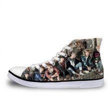 INSTANTARTS Kpop BTS BT21 Bangtan Boys Love Yourself Jie ARMY Canvas middle Tops Fashion Shoes JUNGKOOK JIMIN V Suga Women Shoes