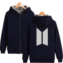 BTS Warm Velvet Hoodie Jacket (5 Colors)