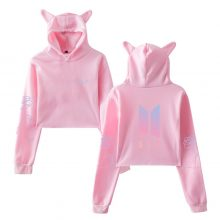 Bangtan7 Love Yourself Crop Top Hoodies With Ears (10 Models)