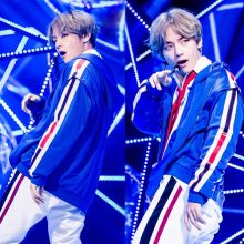 BTS DNA MV V Same Blue Zipper Hoodie