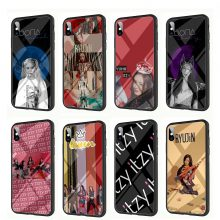 YIMAOC ITZY K Pop Bands Tempered Glass TPU Black Case for iPhone X or 10 8 7 6 6S Plus 5 5S SE Xr Xs Max Phone Cover