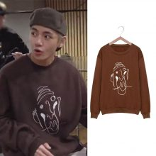 Bangtan7 V Brown Sweatshirt